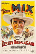 "Movie Posters:Western, Destry Rides Again (Universal, 1932). One Sheet (27"" X 41"").. ..."