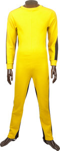 Movie/TV Memorabilia:Costumes, Bruce Lee's Iconic Jumpsuit from His Final Film, Game ofDeath....