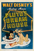 "Movie Posters:Animation, Pluto's Dream House (RKO, 1940). One Sheet (27"" X 41"").. ..."