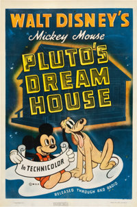 "Pluto's Dream House (RKO, 1940). One Sheet (27"" X 41"")"