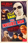 "Movie Posters:Horror, The Invisible Man (Realart, R-1951). One Sheet (27"" X 41"").. ..."