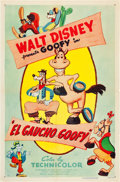 "Movie Posters:Animation, El Gaucho Goofy (RKO, R-1955). One Sheet (27"" X 41"").. ..."