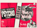 "Movie Posters:Hitchcock, Psycho/ War of the Worlds Combo (Paramount, R-1965). British Quad(30"" X 40"").. ..."