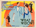 """Movie Posters:Comedy, What a Widow! (United Artists, 1930). Half Sheet (22"""" X 28"""").. ..."""
