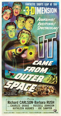 "It Came from Outer Space (Universal International, 1953). Three Sheet (41"" X 81"") 3-D Style"