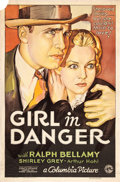"""Movie Posters:Mystery, Girl in Danger (Columbia, 1934). One Sheet (27"""" X 41"""").. ..."""