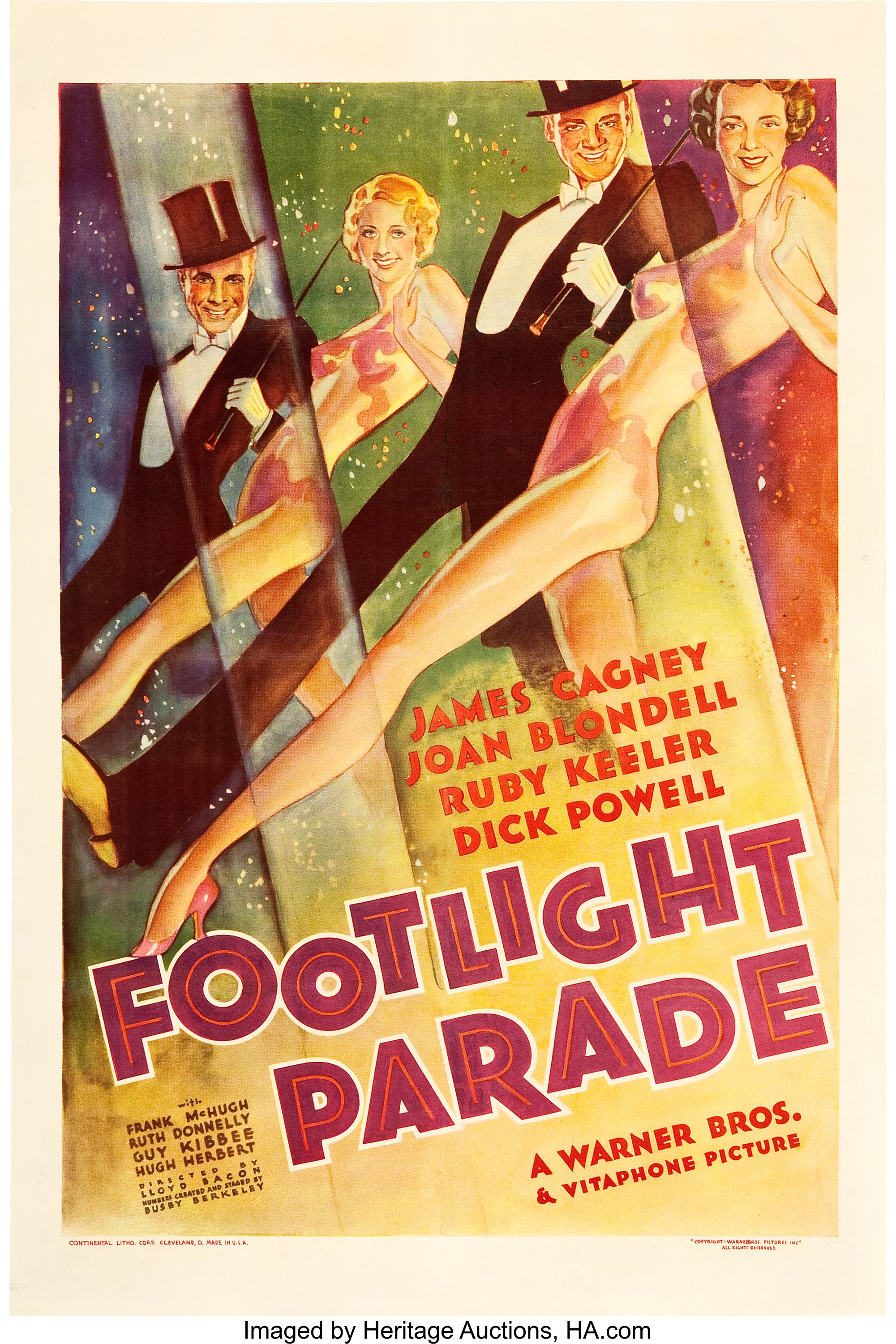 """Footlight Parade (Warner Brothers, 1933). One Sheet (27"""" X 41"""").. 
