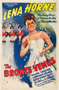 """Movie Posters:Black Films, The Bronze Venus (Toddy Pictures, R-1943). One Sheet (27"""" X 41"""")....."""