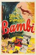 "Movie Posters:Animated, Bambi (RKO, R-1948). One Sheet (27"" X 41"").. ..."