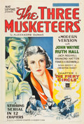 """Movie Posters:Serial, The Three Musketeers (Mascot, 1933). One Sheet (27"""" X 41"""") Chapter1: """"The Fiery Circle."""". ..."""