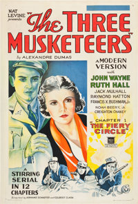 """The Three Musketeers (Mascot, 1933). One Sheet (27"""" X 41"""") Chapter 1: """"The Fiery Circle."""""""