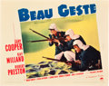 """Movie Posters:Adventure, Beau Geste (Paramount, 1939). Lobby Cards (2) (11"""" X 14"""").. ...(Total: 2 Items)"""