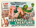 "Movie Posters:Horror, Revenge of the Creature (Universal International, 1955). Half Sheet (22"" X 28"") Style B.. ..."