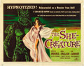 """Movie Posters:Science Fiction, The She-Creature (American International, 1956). Half Sheet (22"""" X 28"""").. ..."""