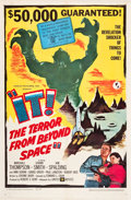 "Movie Posters:Science Fiction, It! The Terror from Beyond Space (United Artists, 1958). One Sheet(27"" X 41"").. ..."