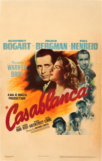 "Casablanca (Warner Brothers, 1942). Window Card (14"" X 22"")"