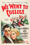 """Movie Posters:Comedy, We Went to College (MGM, 1936). One Sheet (27"""" X 41"""").. ..."""