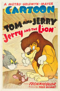 "Movie Posters:Animated, Jerry and the Lion (MGM, 1949). One Sheet (27"" X 41"").. ..."