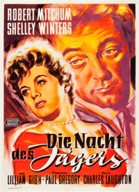 """The Night of the Hunter (United Artists, 1955). German A1 (24"""" X 33"""")"""