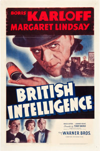 "British Intelligence (Warner Brothers, 1940). One Sheet (27"" X 41"")"