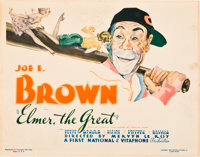 "Elmer, the Great (Warner Brothers-First National, 1933). Title Lobby Card (11"" X 14"")"