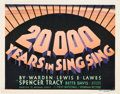 "Movie Posters:Crime, 20,000 Years in Sing Sing (First National, 1932). Title Lobby Cardand Lobby Cards (3) (11"" X 14"").. ... (Total: 4 Items)"