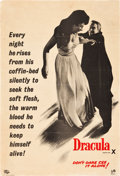"Movie Posters:Horror, Horror of Dracula (Universal International, 1958). British DoubleCrown (19"" X 28"") Advance.. ..."
