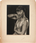 "Movie Posters, Anna May Wong by Edwin Bower Hesser (1920s). Portrait Photo (9.5"" X12"") Mounted to (14"" X 18"").. ..."