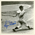 Baseball Collectibles:Photos, Roger Maris and Tracy Stallard Multi Signed Photograph....