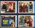 """Movie Posters:Film Noir, Night and the City (20th Century Fox, 1950). CGC Graded Lobby Card Set of 8 (11"""" X 14"""").. ... (Total: 8 Items)"""
