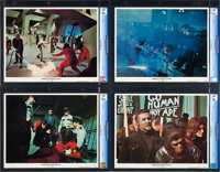 """Conquest of the Planet of the Apes (20th Century Fox, 1972). CGC Graded Lobby Card Set of 8 (11"""" X 14""""). Scien..."""