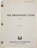 Movie/TV Memorabilia:Documents, The Breakfast Club Second Draft Script....