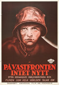 "Movie Posters:Academy Award Winners, All Quiet on the Western Front (Universal, R-1940s). Swedish OneSheet (27.5"" X 39.5"").. ..."