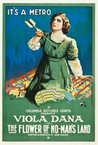 """The Flower of No Man's Land (Columbia, 1916). One Sheet (27"""" X 41"""")"""