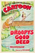 "Movie Posters:Animated, Droopy's Good Deed (MGM, 1951). One Sheet (27"" X 41"").. ..."