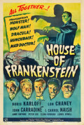 "Movie Posters:Horror, House of Frankenstein (Universal, 1944). One Sheet (27"" X 41"").. ..."
