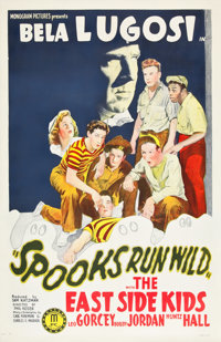 "Spooks Run Wild (Monogram, 1941). One Sheet (27"" X 41"")"
