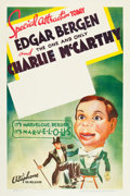 """Movie Posters:Comedy, Edgar Bergen and Charlie McCarthy Stock Poster (Warner Brothers,R-1938). One Sheet (27"""" X 41"""").. ..."""