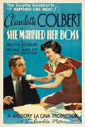 "Movie Posters:Comedy, She Married Her Boss (Columbia, 1935). One Sheet (27"" X 41"") StyleB.. ..."
