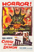 "Movie Posters:Horror, Curse of the Demon (Columbia, 1957). One Sheet (27"" X 41"").. ..."