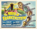 "Movie Posters:Horror, House of Frankenstein (Universal, 1944). Title Lobby Card (11"" X 14"").. ..."