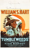 "Movie Posters:Western, Tumbleweeds (United Artists, 1925). Window Card (14"" X 22"").. ..."
