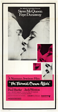 "The Thomas Crown Affair (United Artists, 1968). Three Sheet (41"" X 81"")"