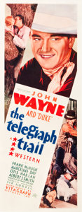 "Movie Posters:Western, The Telegraph Trail (Warner Brothers, 1933). Insert (14"" X 36"").. ..."