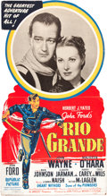 "Movie Posters:Western, Rio Grande (Republic, 1950). Standee (32.5"" X 59"").. ..."