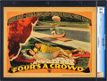 "Movie Posters:Comedy, Four's a Crowd (Warner Brothers, 1938). CGC Graded Lobby Card (11"" X 14""). Comedy.. ..."