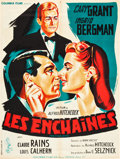 """Movie Posters:Hitchcock, Notorious (Columbia, R-1954). French Affiche (23.5"""" X 31.5"""").. ..."""