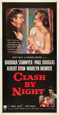 "Movie Posters:Drama, Clash By Night (RKO, 1952). Three Sheet (41"" X 81"").. ..."