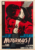 "Movie Posters:Hitchcock, Notorious (Cei Incom, R-1960). Italian 4 - Foglio (55"" X 78"").. ..."