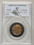 """S.S.C.A. Relic Gold Medals, 1857/0 $10 SSCA Relic Gold Medal """"1857/0 Baldwin & Co. Ten""""Deep Cameo Proof PCGS.... (Total: 2 coins)"""
